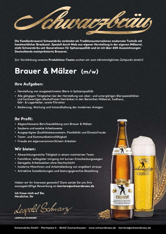 Job: Brauer und Mälzer (m/w)