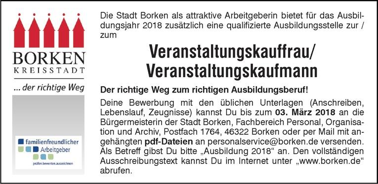 Ausbildungsstelle Veranstaltungskauffrau/ Veranstaltungskaufmann