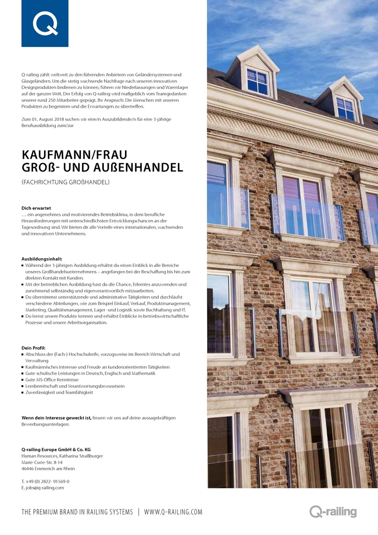 Kaufmann/frau Groß- und Außenhandel