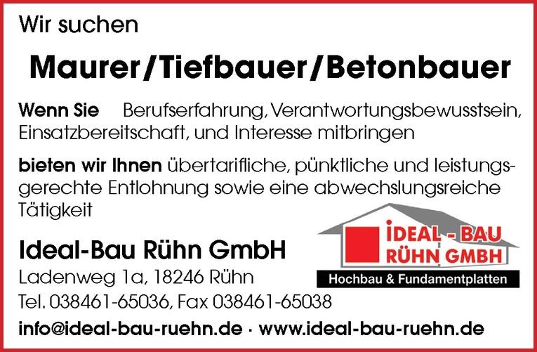 Maurer/Tiefbauer/Betonbauer
