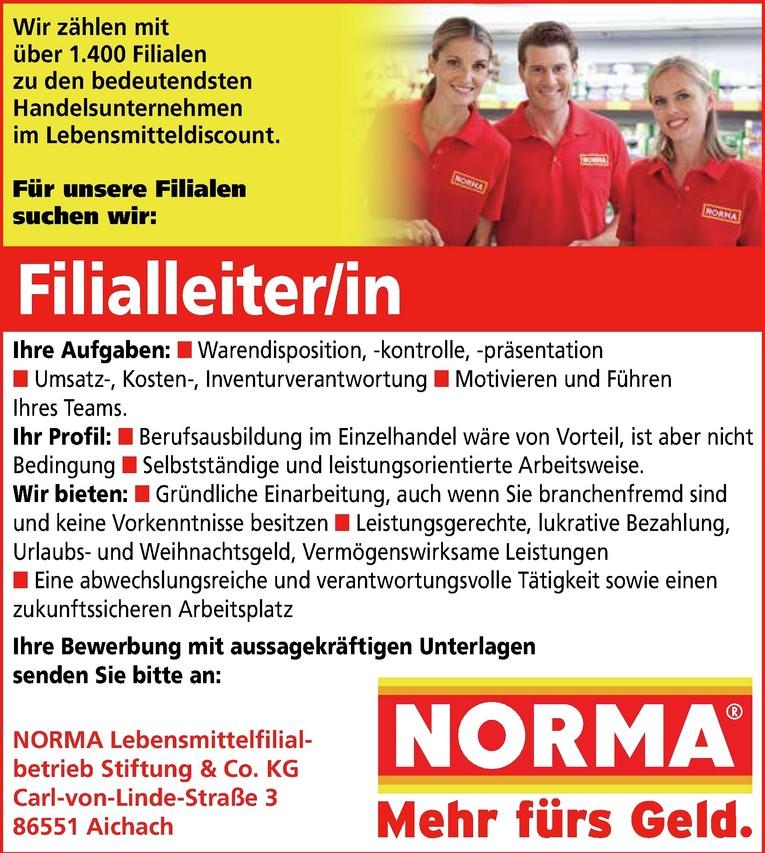 Filialleiter/in
