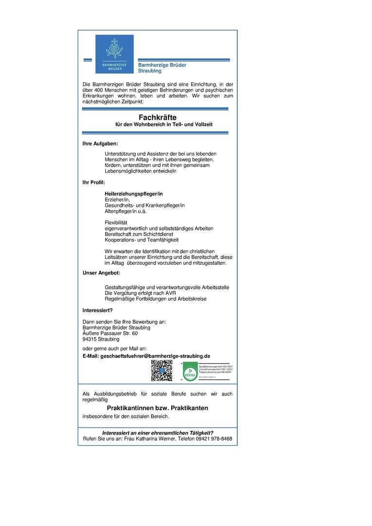 Fachkräfte in der Behindertenhilfe (Heilerziehungspfleger/in, Altenpfleger/in, Erzieher/in, Gesundheits- und Krankenpfleger/in)