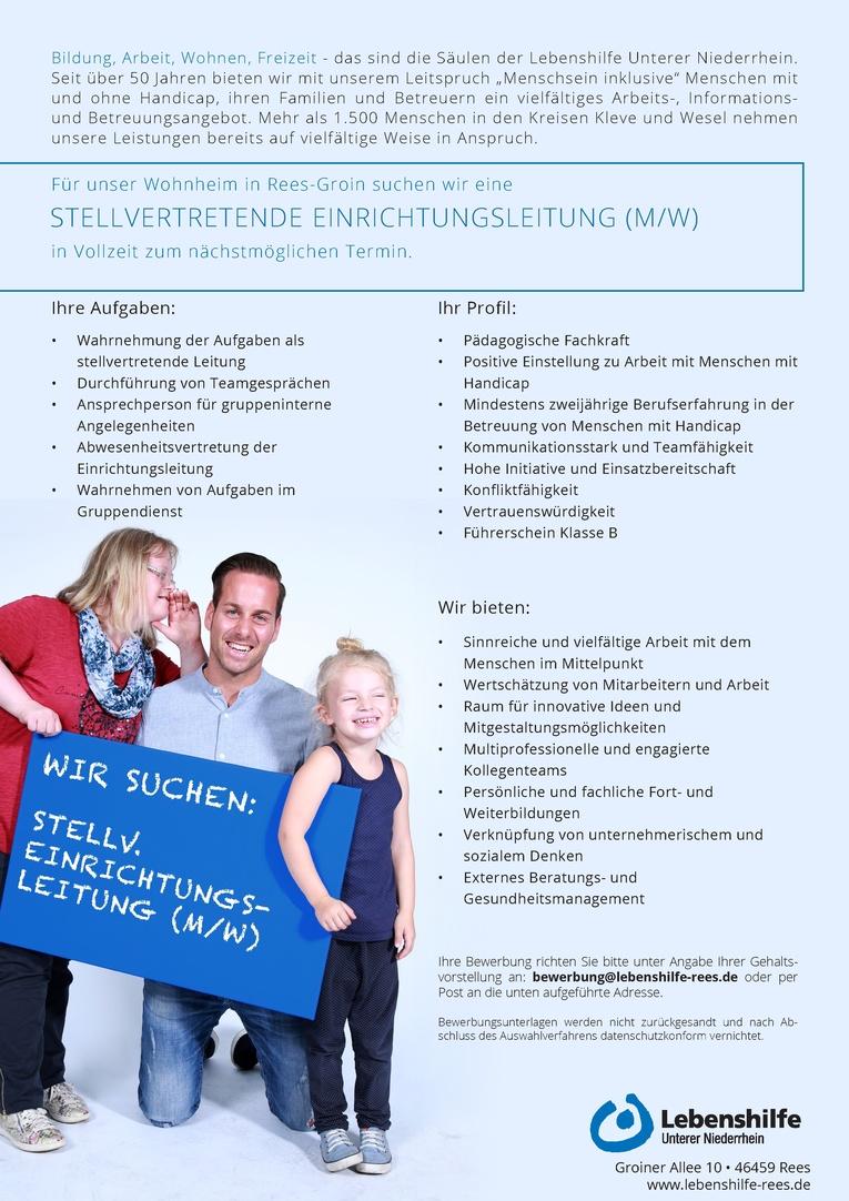 Stellvertretende Wohnheimleitung (m/w)