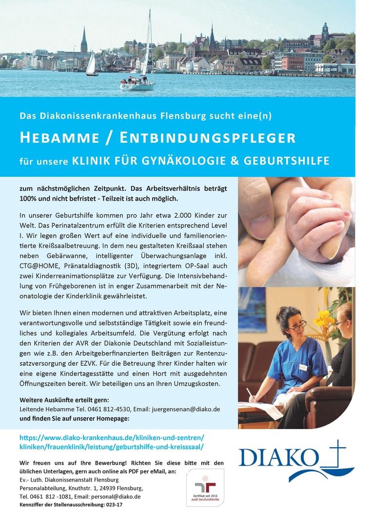 Hebamme / Entbindungspfleger für den Kreißsaal