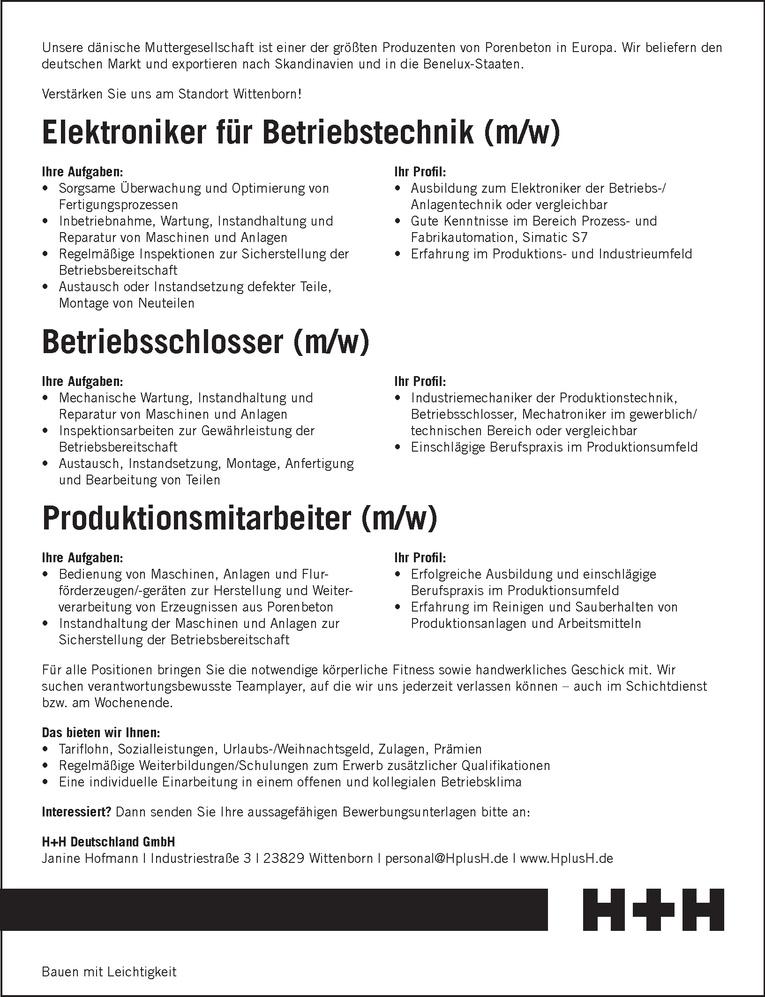 Betriebsschlosser (m/w)