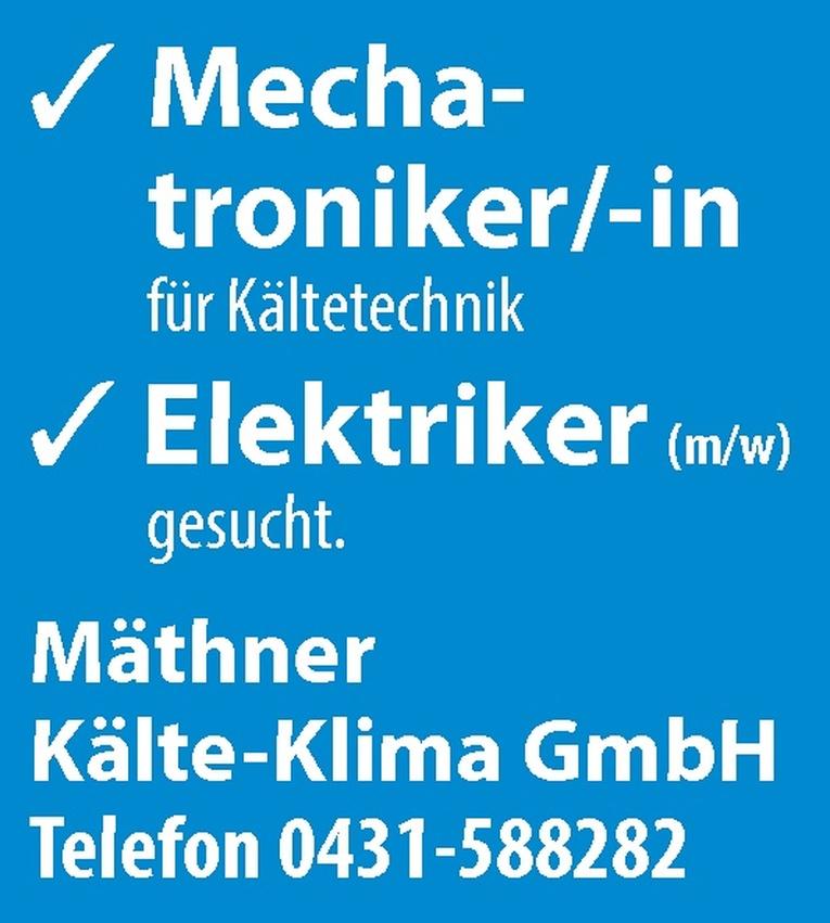 Mechatroniker/-in für Kältetechnik