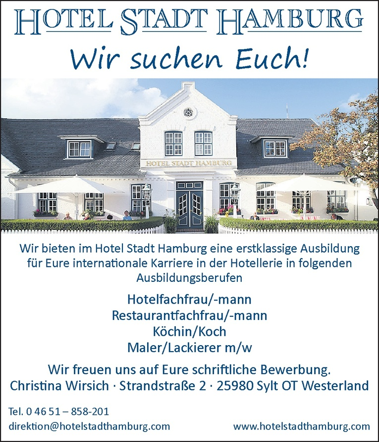 Ausbildung - Hotelfachfrau/-mann