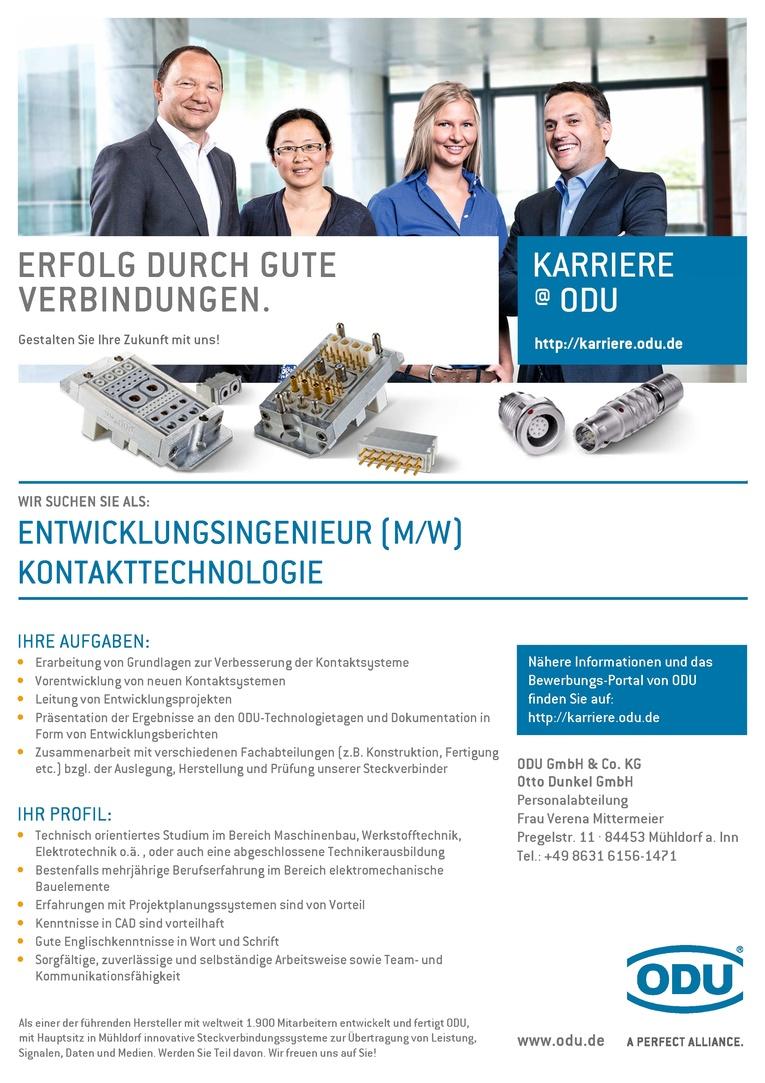 Entwicklungsingenieur (m/w) Kontakttechnologie