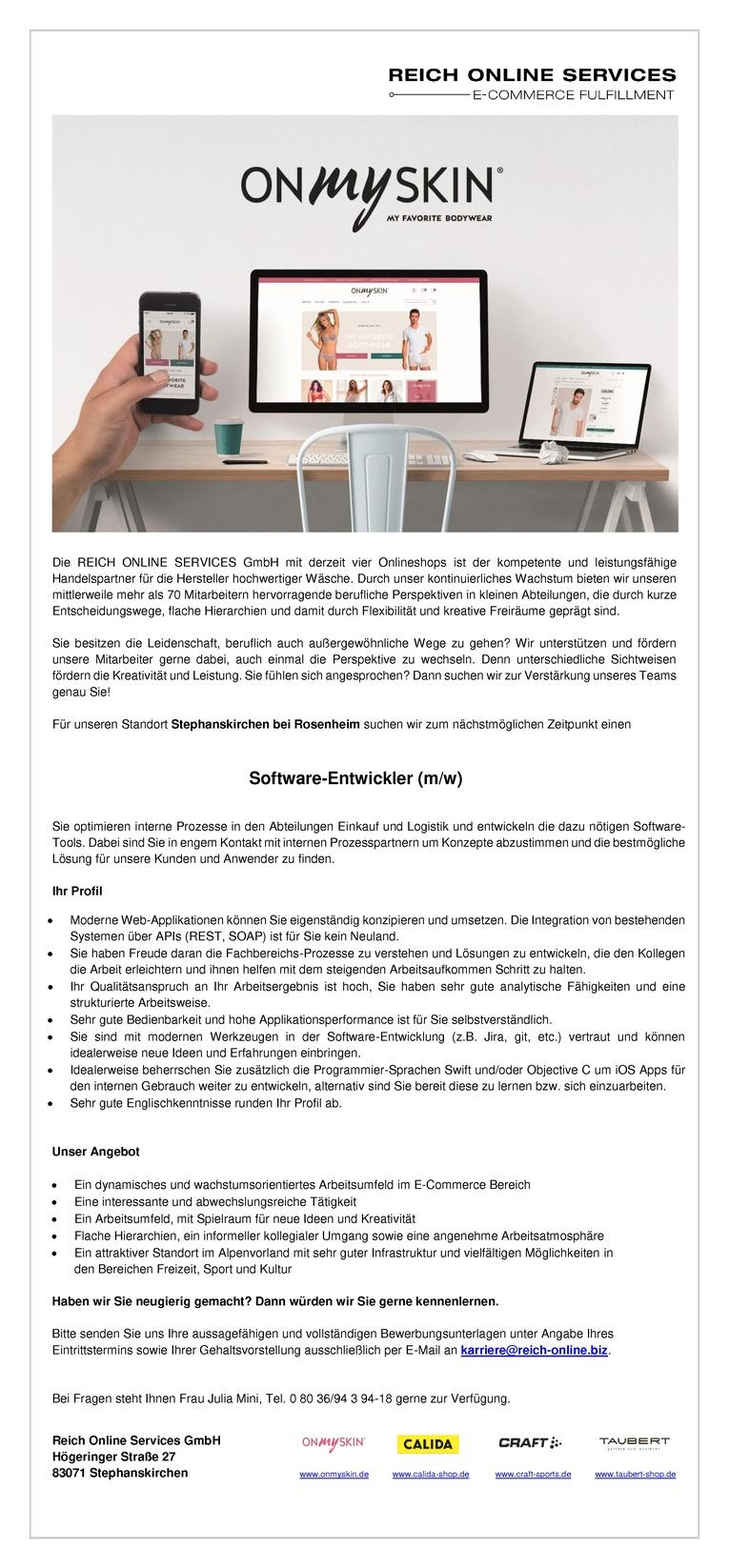 Software-Entwickler (m/w)