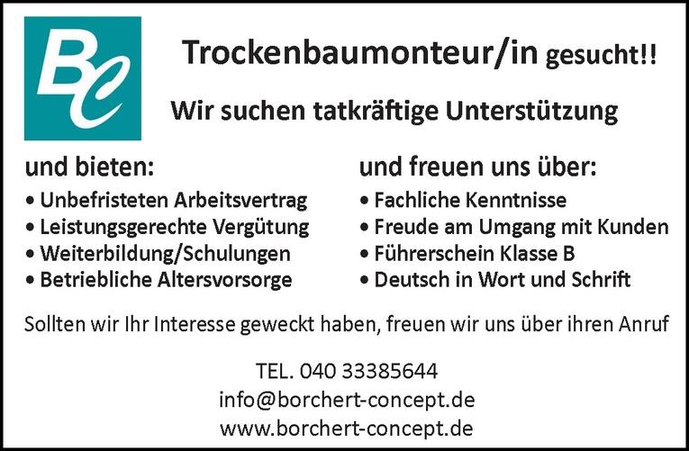 Trockenbaumonteur/in