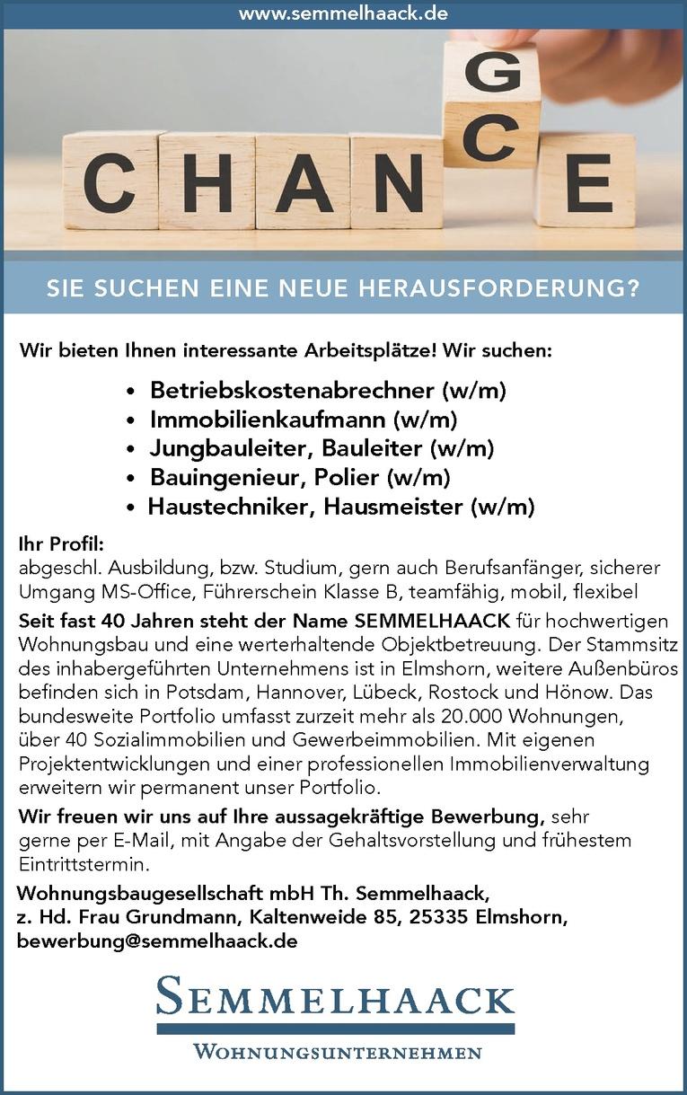 Jungbauleiter / Bauleiter (w/m)
