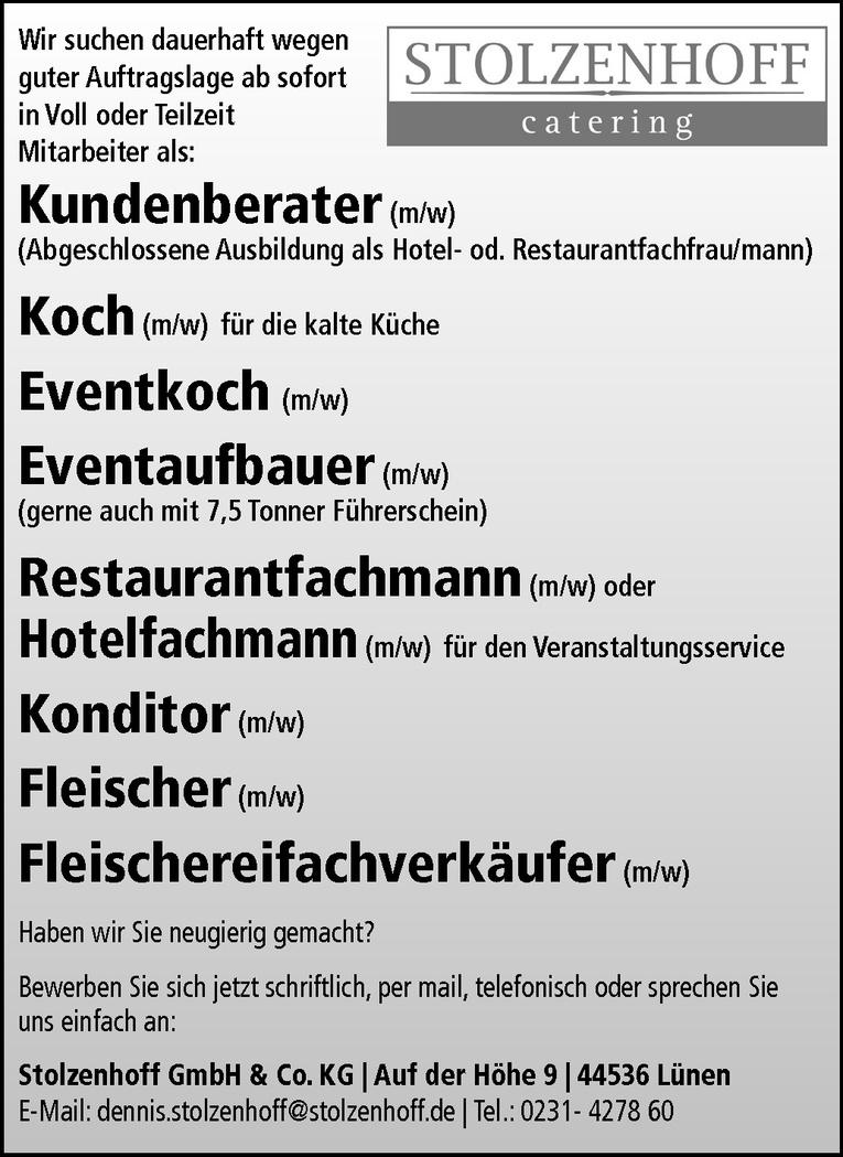 Restaurantfachmann (m/w) oder Hotelfachmann (m/w)