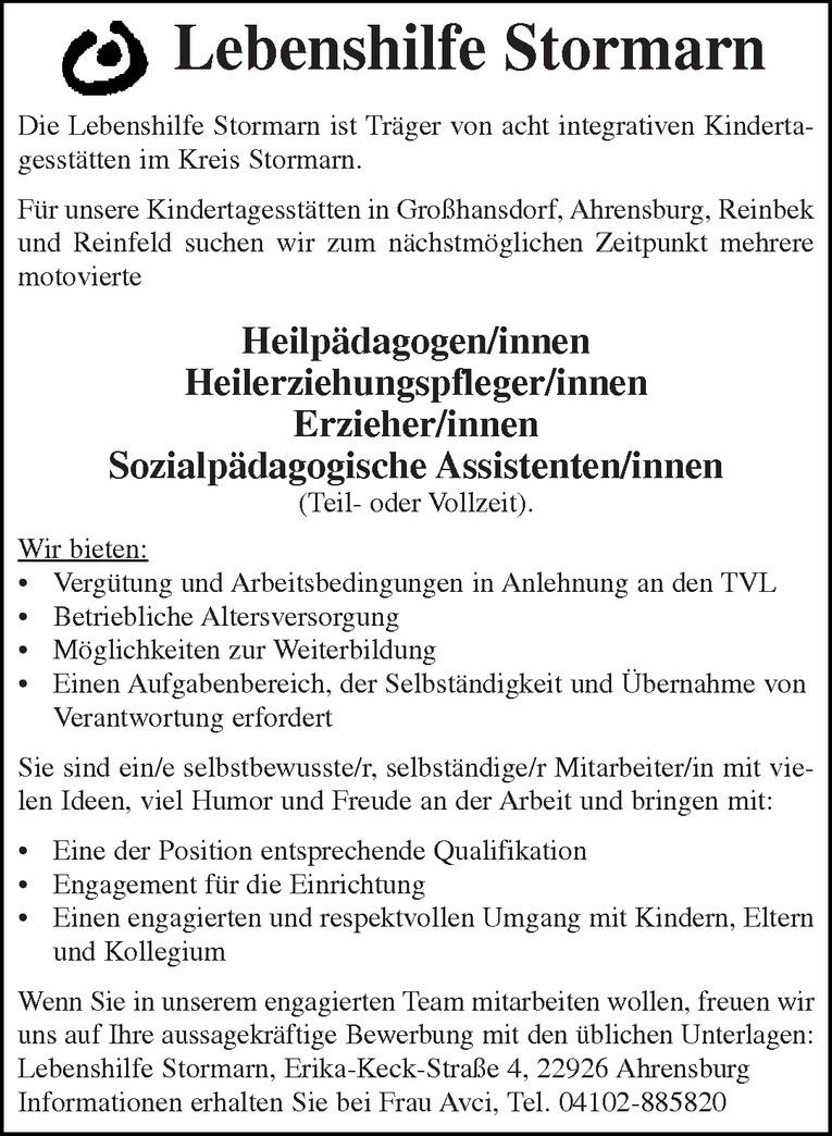 Sozialpädagogische Assistenten/innen