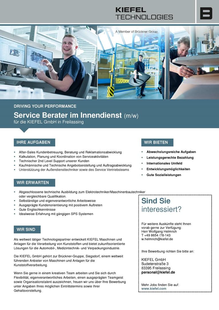 Service Berater im Innendienst (m/w)