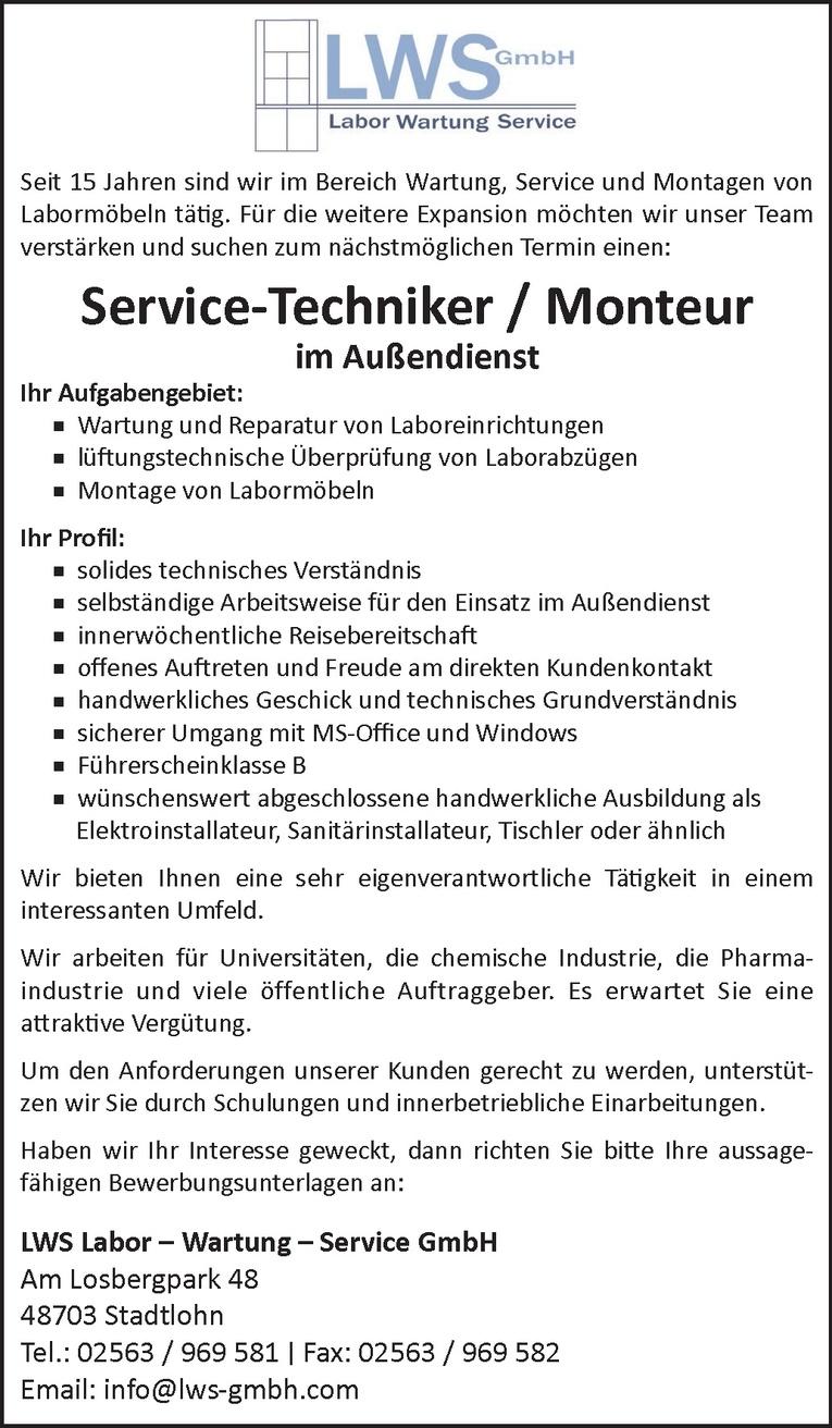 Service-Techniker / Monteur  im Außendienst