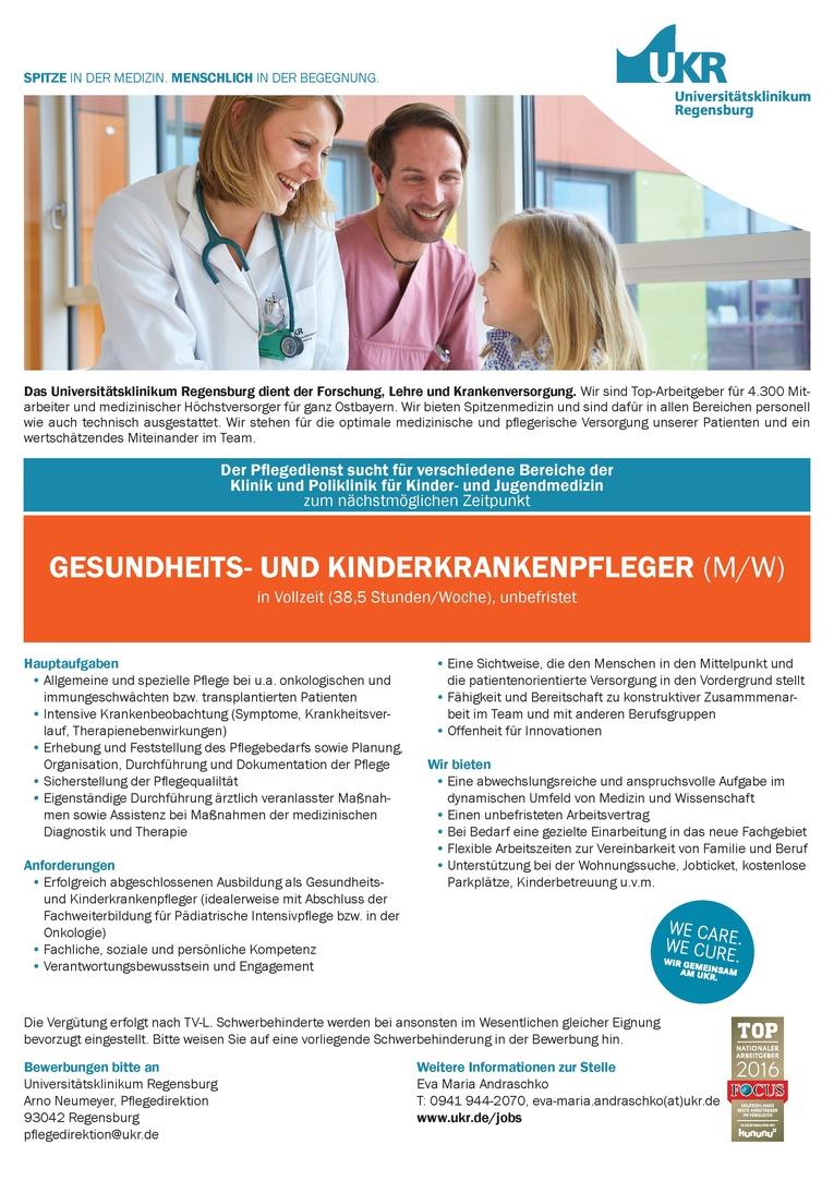 Gesundheits- und Kinderkrankenpfleger (m/w)