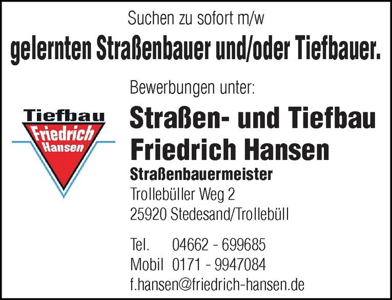 Straßenbauer / Tiefbauer m/w