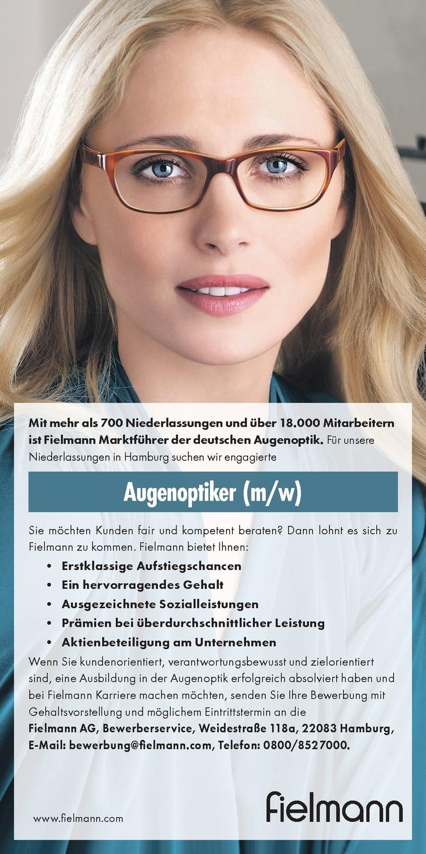 augenoptiker mw - Fielmann Bewerbung