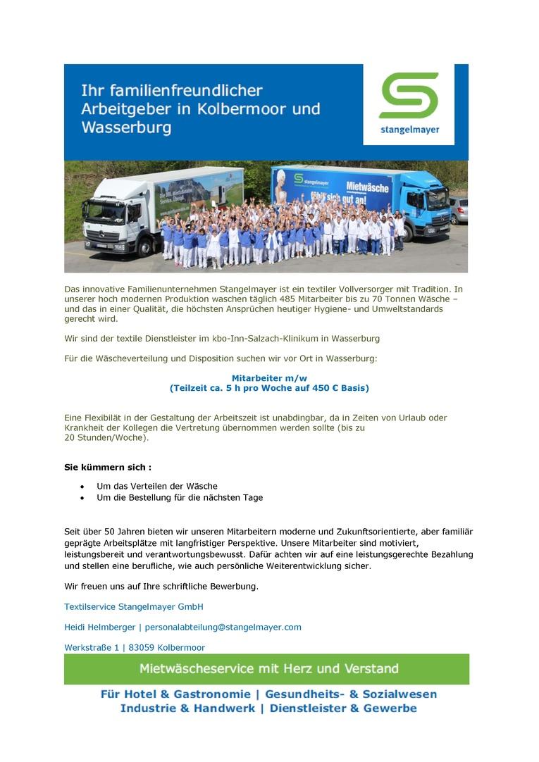 Mitarbeiter m/w auf 450 € Basis zur Wäscheverteilung