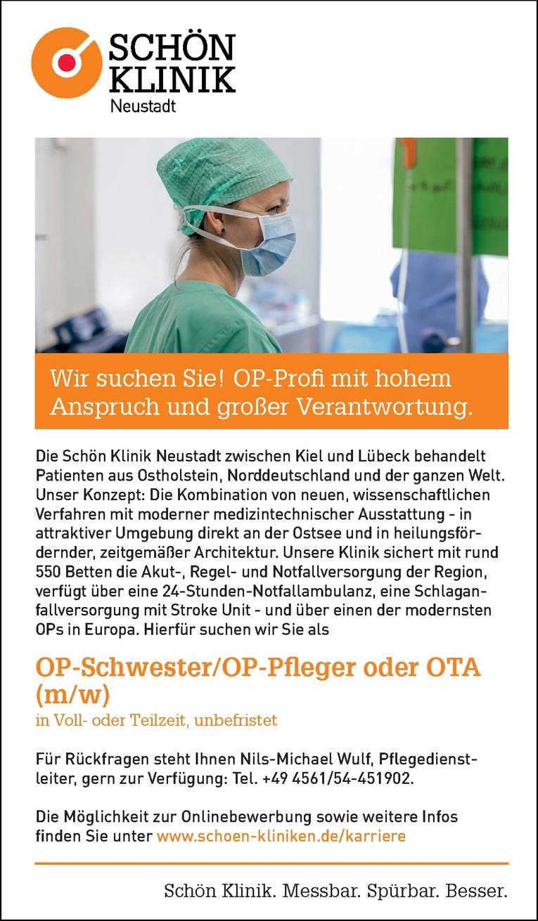 OP-Schwester/OP-Pfleger oder OTA (m/w)