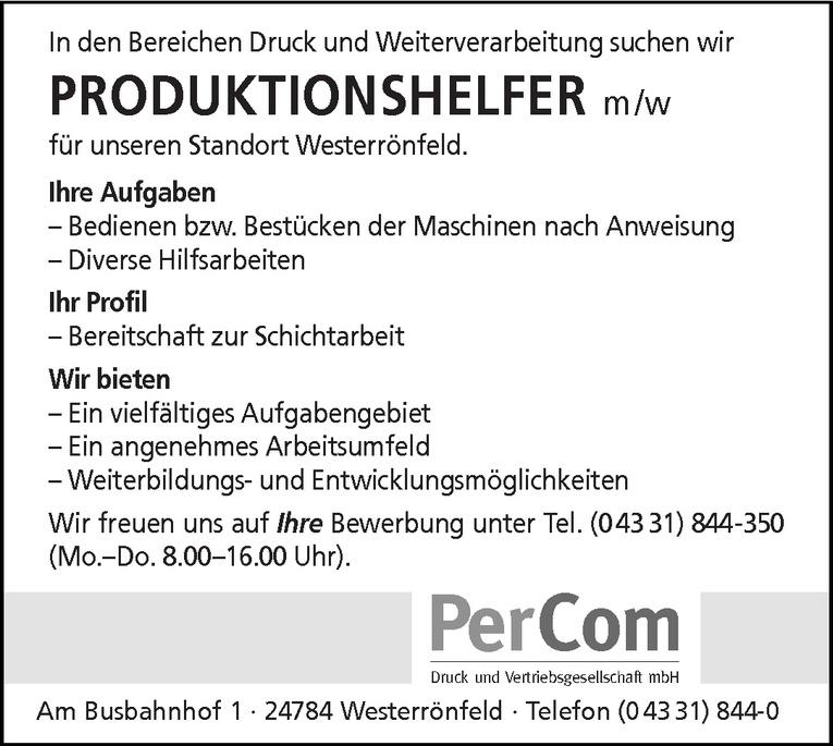Produktionshelfer m /w