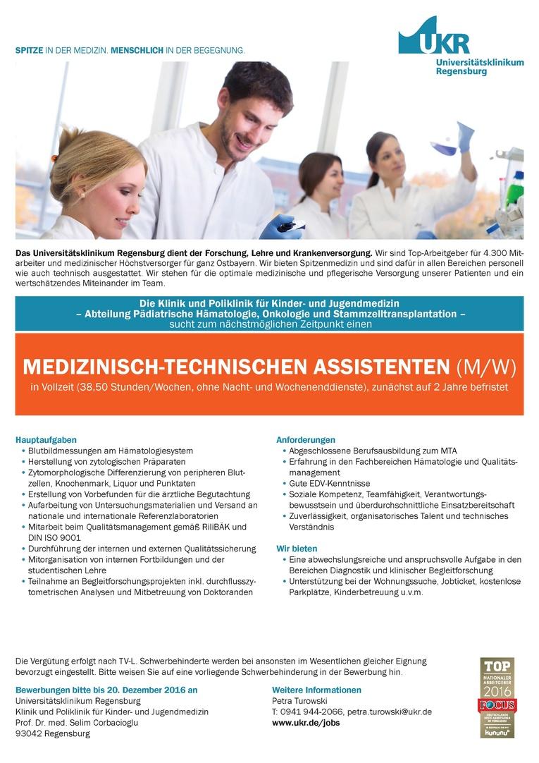Medizinisch-Technischen Assistenten (m/w)