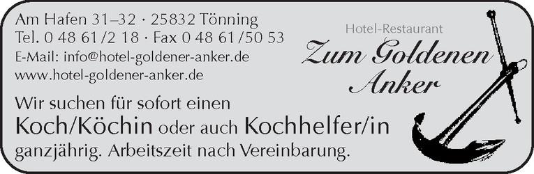 Koch /Köchin / Kochhelfer/in