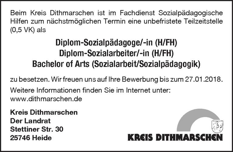 Diplom-Sozialpädagoge/Diplom-Sozialarbeiter/Bachelor of Arts (m/w)