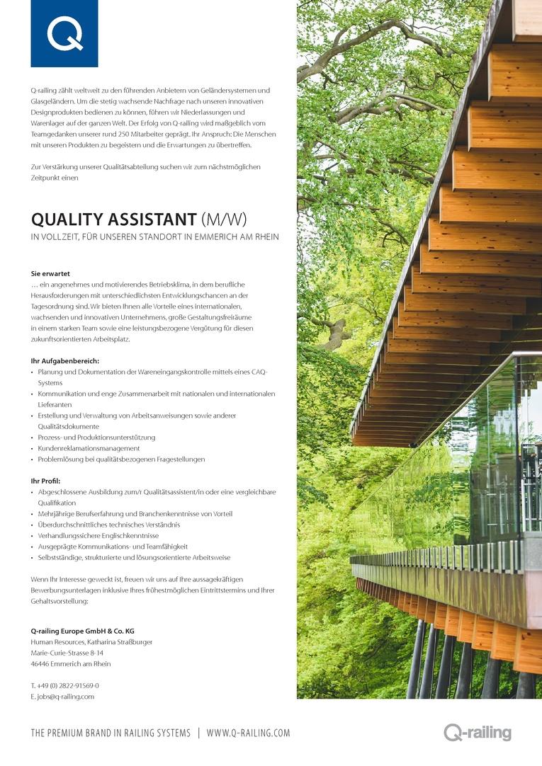 Quality Assistant (m/w)