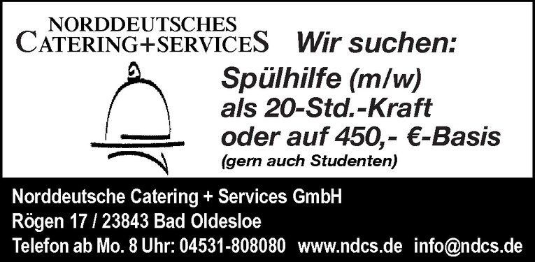 Spülhilfe (m/w)