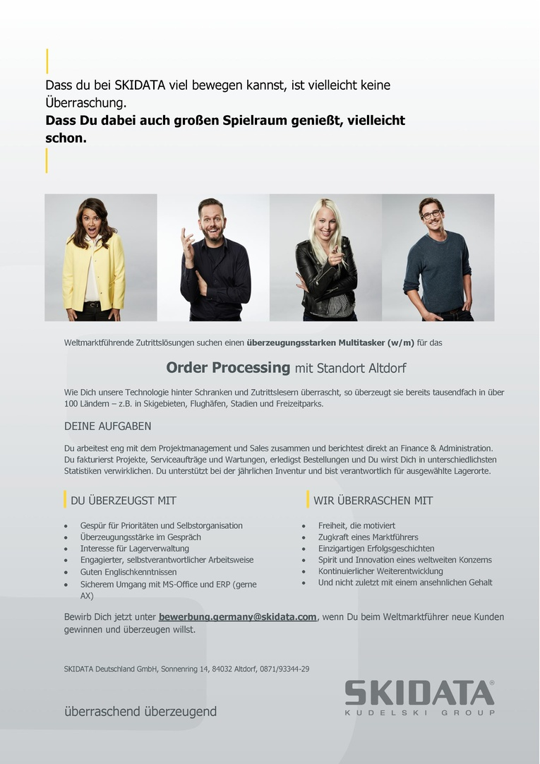 Order Processing (m/w)