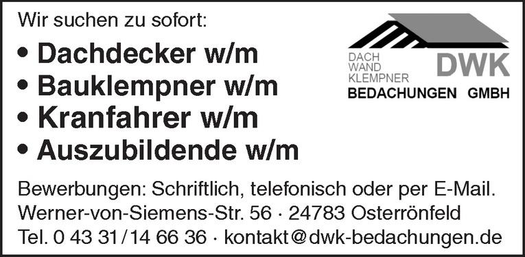 Bauklempner w/m