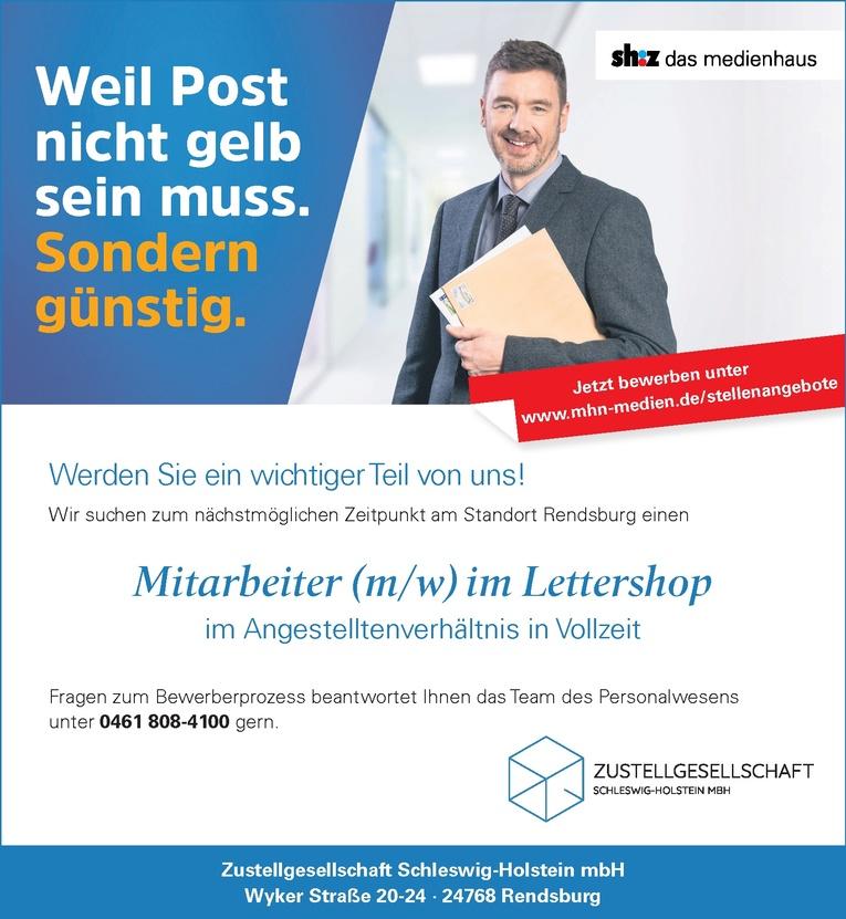 Mitarbeiter (m/w) im Lettershop