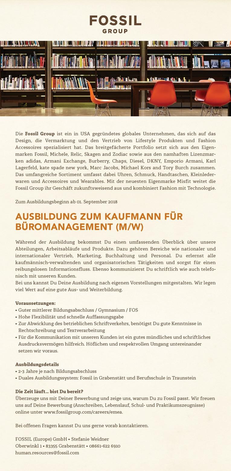 Ausbildung zum Kaufmann/-frau für Büromanagement