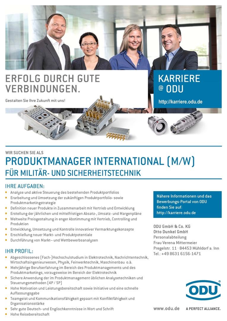 Produktmanager International (m/w) für Militär- und Sicherheitstechnik