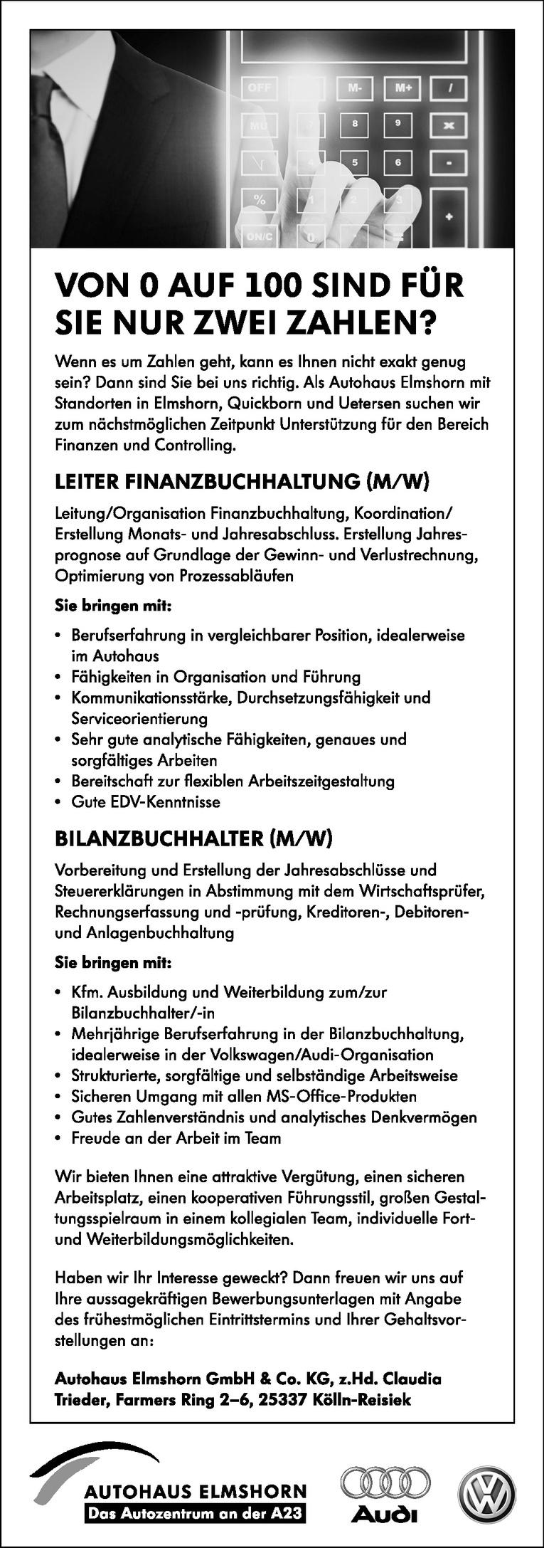 LEITER FINANZBUCHHALTUNG (M/W)