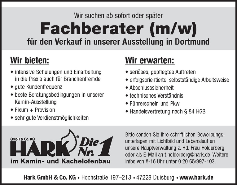 Fachberater (m/w)