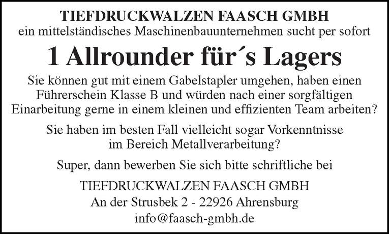 Allrounder für´s Lagers