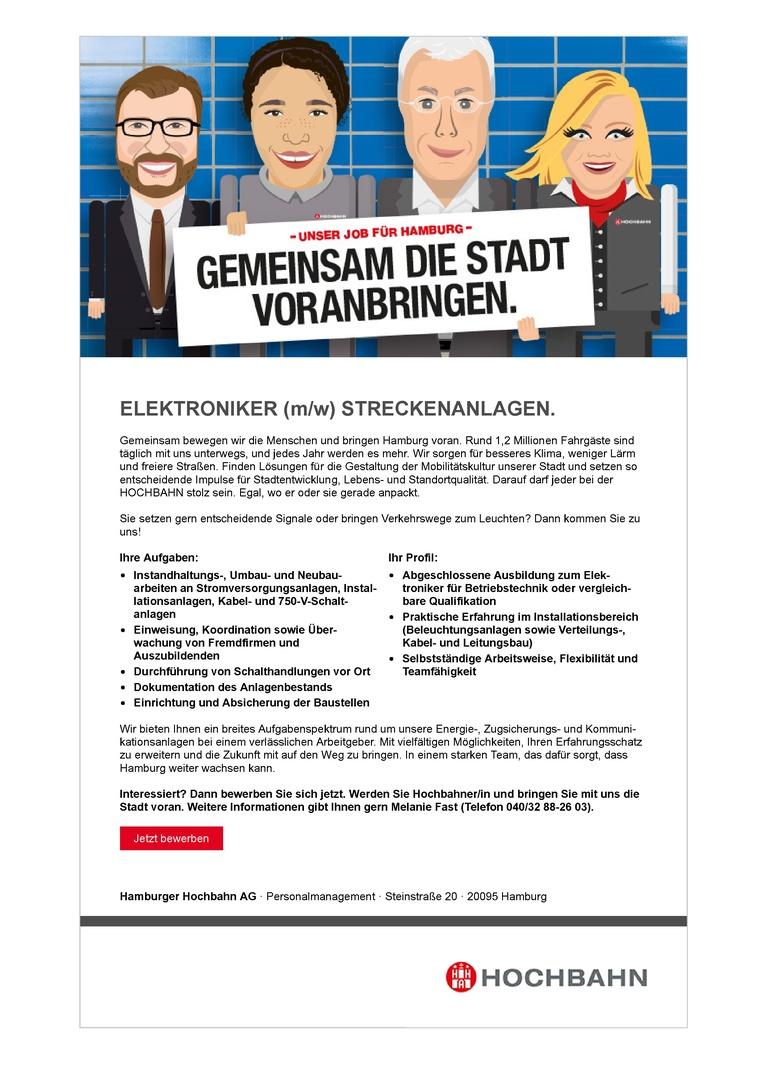 ELEKTRONIKER (m/w) STRECKENANLAGEN.