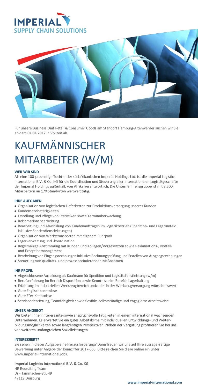 Speditionskaufmann (w/m)
