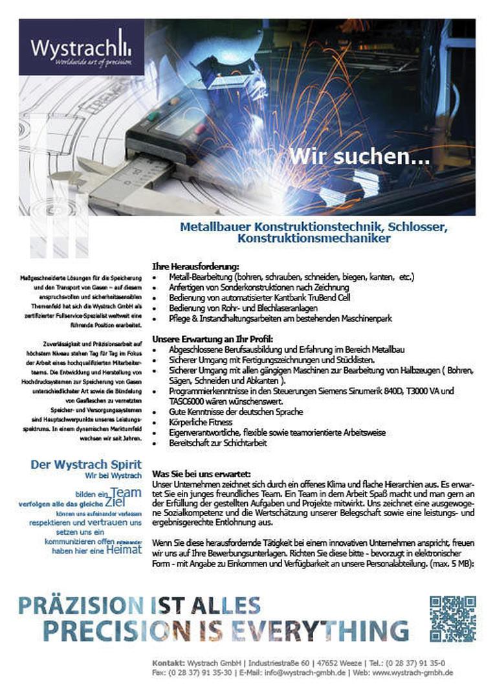 Wir suchen Metallbauer Konstruktionstechnik, Schlosser,  Konstruktionsmechaniker