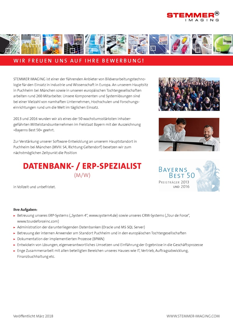 Datenbank- / ERP-Spezialist (m/w)