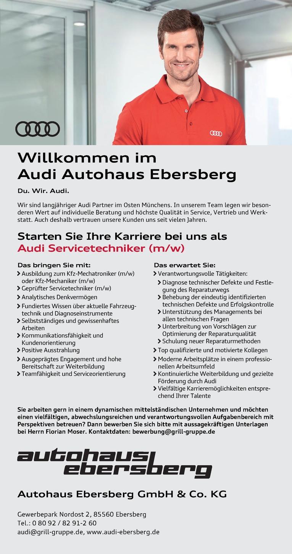 kfz servicetechniker mw - Audi Bewerben