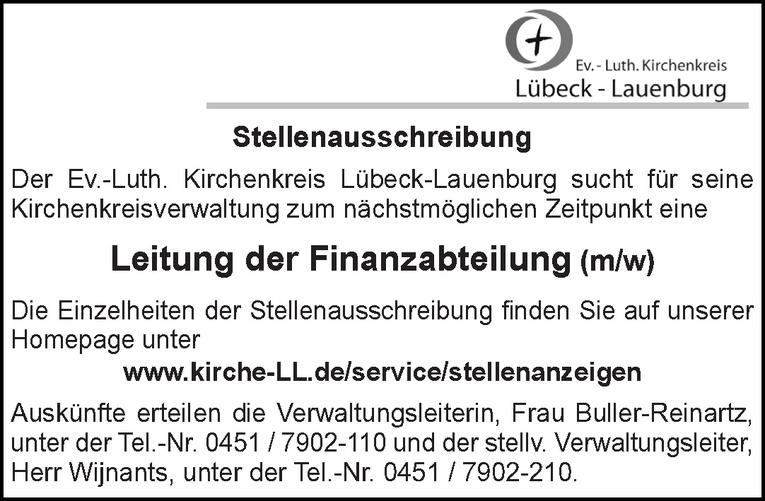 Leitung der Finanzabteilung (m/w)
