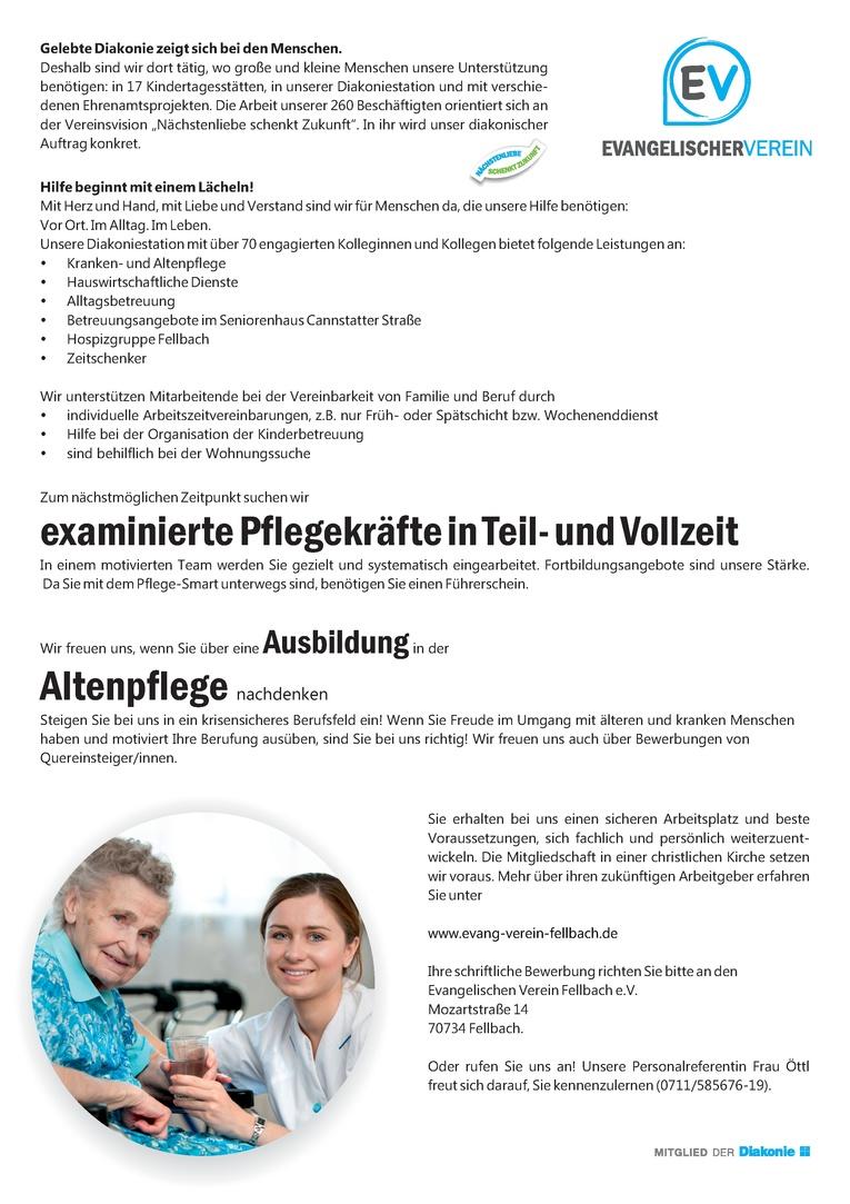 Ausbildungsstelle in der Altenpflege (m/w)