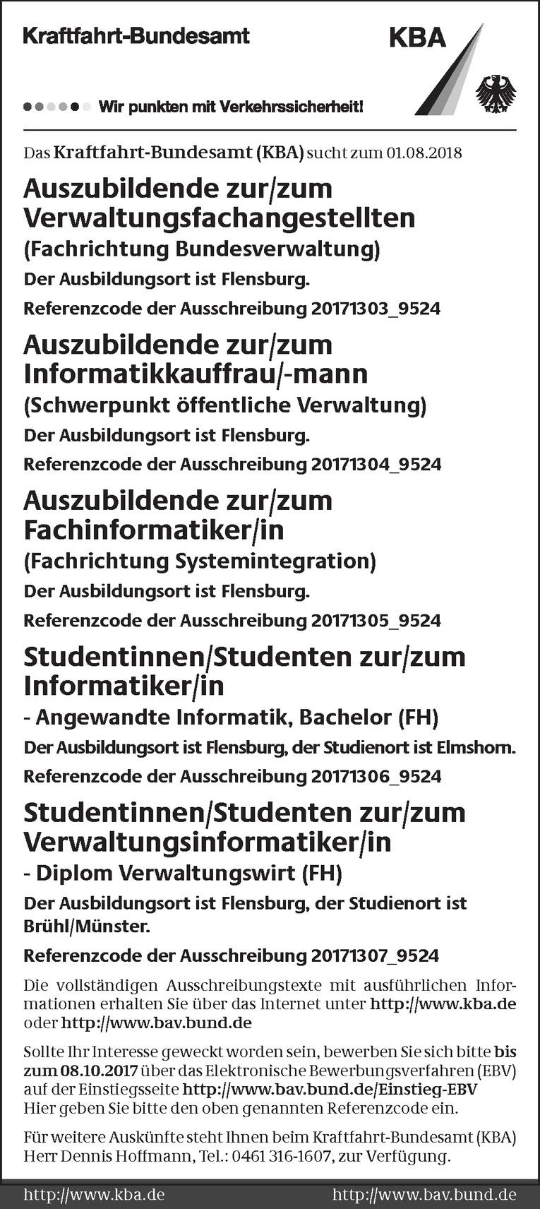 Studentinnen/Studenten zur/zum Verwaltungsinformatiker/in