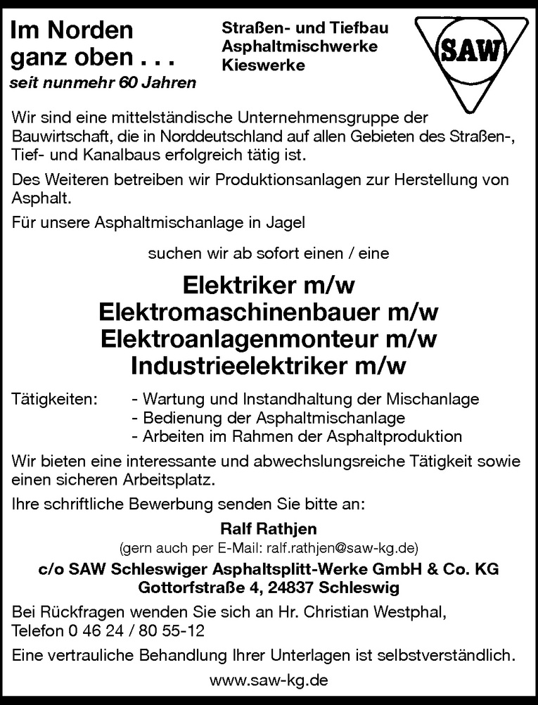 Elektromaschinenbauer m/w