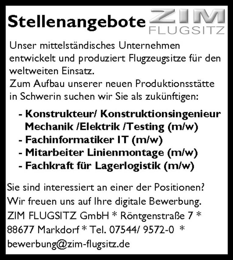 Konstrukteur / Konstruktionsingenieur Mechanik /Elektrik /Testing (m/w)