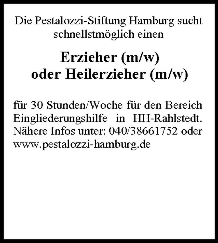 Erzieher / Heilerzieher (m/w)