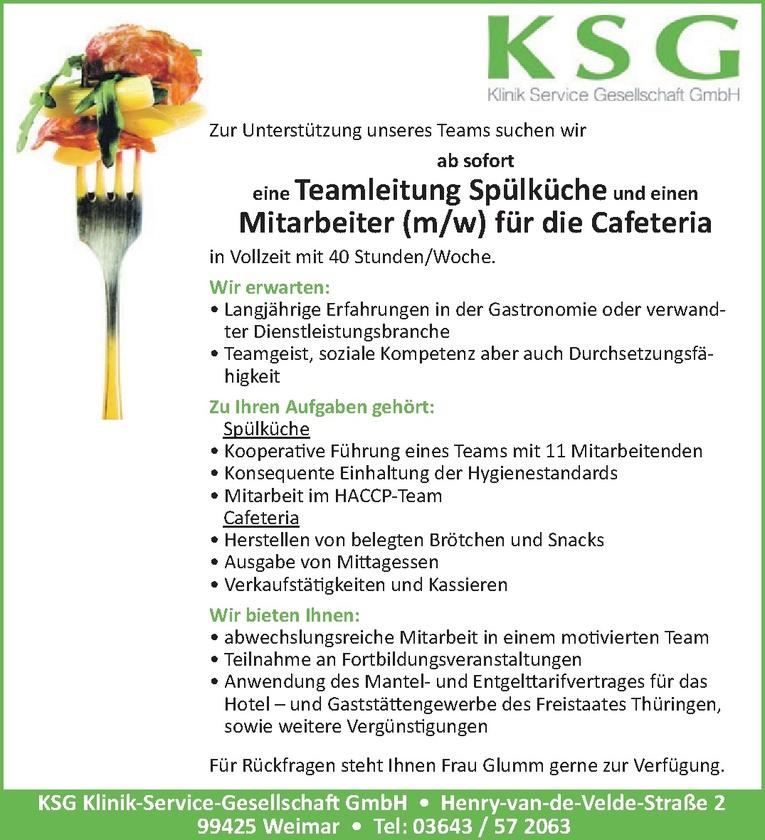 Teamleitung Spülküche (m/w)
